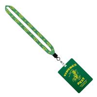 "3/4"" Sublimated Lanyard w/ 4 1/4"" W x 6"" H Plastic ID Badge"