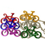 Bicycle shape bottle opener key chain