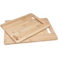 2 Piece Bamboo Cutting Board Set