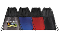Drawcord Backpack with zipper pocket