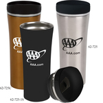 14 oz. Double Wall Stainless Copper/Black Matte Mug