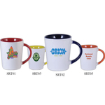 12 oz. Sorrento Mug - White/Orange