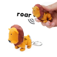 Lion Animal LED Light Sound Keychain