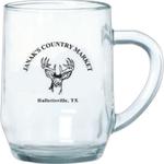 10 oz. Clear Glass Haworth Mug