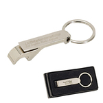 Traditional Chrome Bottle And Can Opener Keyring
