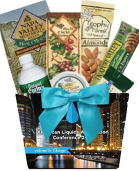Full Color Imprint Basket with Healthy Snacks
