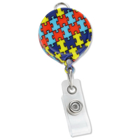 Autism Awareness Puzzle Badge Reels