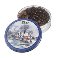 Glad Tidings Tin with Chocolate Almonds and Cashew Nuts