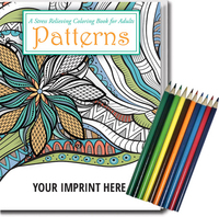 Relax Pack-Patterns Coloring Book - Adults + Colored Pencils