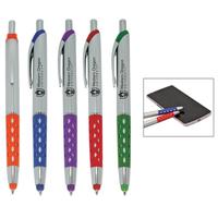 Colorful diamond pattern grip stylus pen