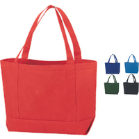Durable Solid Color Canvas Tote Bag