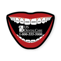 "Magnet-Mouth with Braces Vinyl Magnet 1 3/4""x2 1/4"" 20mil"
