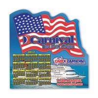 """Calendar Sheet - US Flag Shape Calendar Sheet 8"""" x 8"""""""