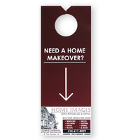 "Door Hanger - 9"" x 3 1/2"" Door Hangers with Coupon"