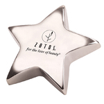 Paperweight - Silver Star Shape Paperweight