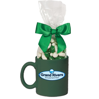 Ceramic Mug Stuffer with Corporate Color Jelly Beans