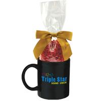 Ceramic Mug Stuffer with Cinnamon Red Hots Candy
