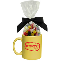 Ceramic Mug Stuffer with Jelly Beans Candy