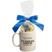 Ceramic Mug Stuffer with Jolly Ranchers Hard Candy