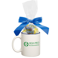 Two Tone Ceramic Mug Stuffer with Jolly Ranchers Hard Candy
