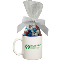 Two Tone Ceramic Mug Stuffer with Candy Stars