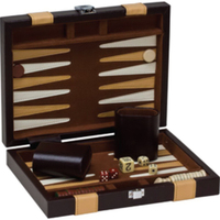 "9"" Brown Backgammon Set"