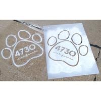 """Custom Sidewalk Stencils (24""""x18"""")"""