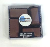 4 Piece Milk Chocolate Snapper Pecan Caramel Clusters Box