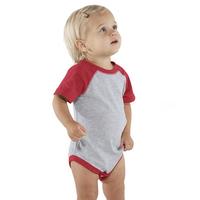 Rabbit Skins Infant Vintage Fine Jersey Baseball Bodysuit