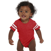 Rabbit Skins Infant Fine Jersey Football Bodysuit