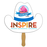 Cowboy Hat Hand Fan Full Color (1 Side)
