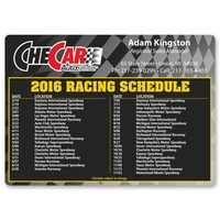 Racing Schedule Magnet