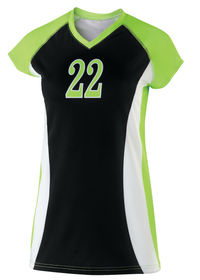 ... Girls Custom Sublimated Volleyball Jersey