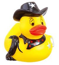 Rubber Western Sheriff Duck