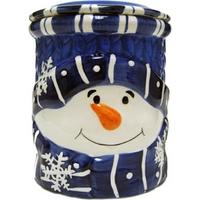 Blue Snowman Cookie Jar
