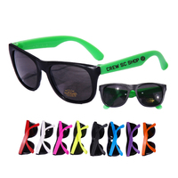 Neon/Black Frame UV Protective Sunglasses