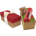 Gift Box with Bottle and Honey Roasted Peanuts