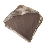 Designer Faux Fur Throw, Coyote