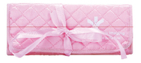 Quilted Foldable Jewelry Pouch w/ Satin Tie