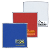 "6"" x 6"" 2-in-1 Microfiber Cloth And Towel"