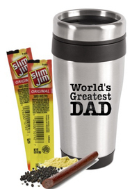 Stainless Tumbler with Beef Jerky