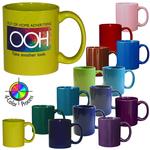 11oz C-Handle Stoneware Mug, four color
