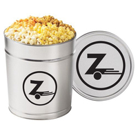 4 Way Popcorn Tin / 3.5 Gallon