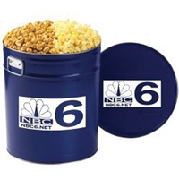 2 Way Popcorn Tin / 6.5 Gallon