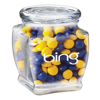 Footed Glass Jar / Chocolate Buttons