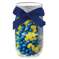 16 oz Glass Mason Jar With Jelly Belly (R) Jelly Beans