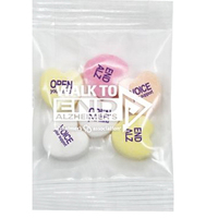 Conversation Hearts Promo Snax Bag / 3 Custom Messages
