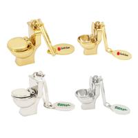 Mini Metal Toilet Key Tag