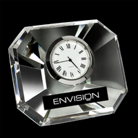 Mini Desktop Square Crystal Clock