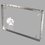 Etched Acrylic Block Photo Frames (12 Square Inches)